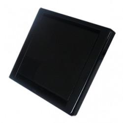 Zásuvka QUADRA - čierna
