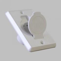 Zásuvka plast - biela